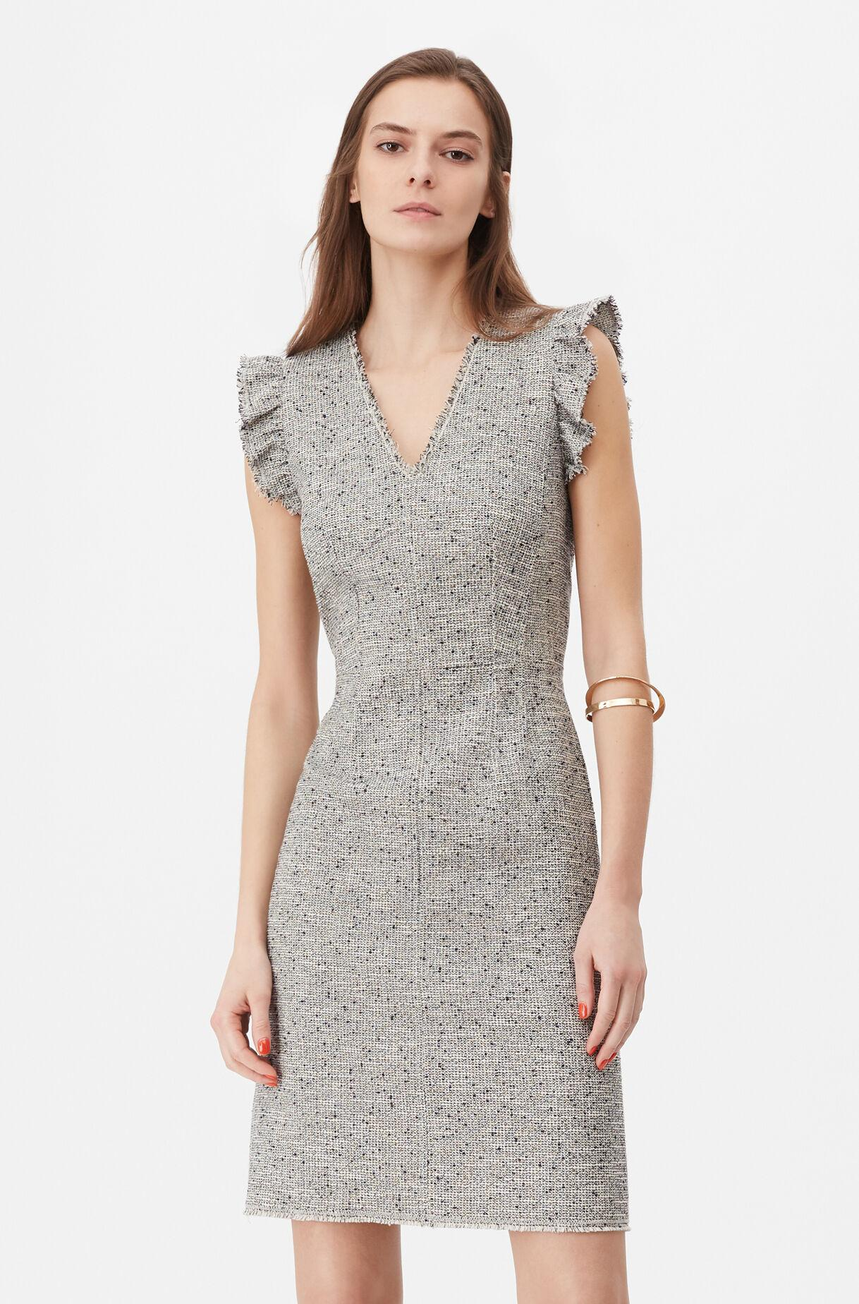 ba2f95ad46fd Rebecca Taylor Tailored Tweed Dress in Gray - Save 4% - Lyst