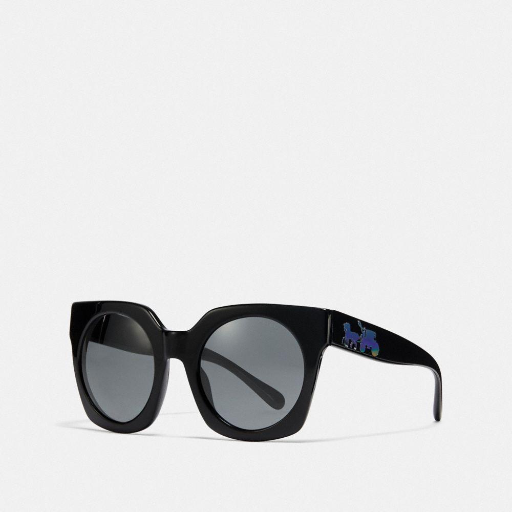 c0c9d189a1 COACH. Women s Horse And Carriage Hologram Sunglasses