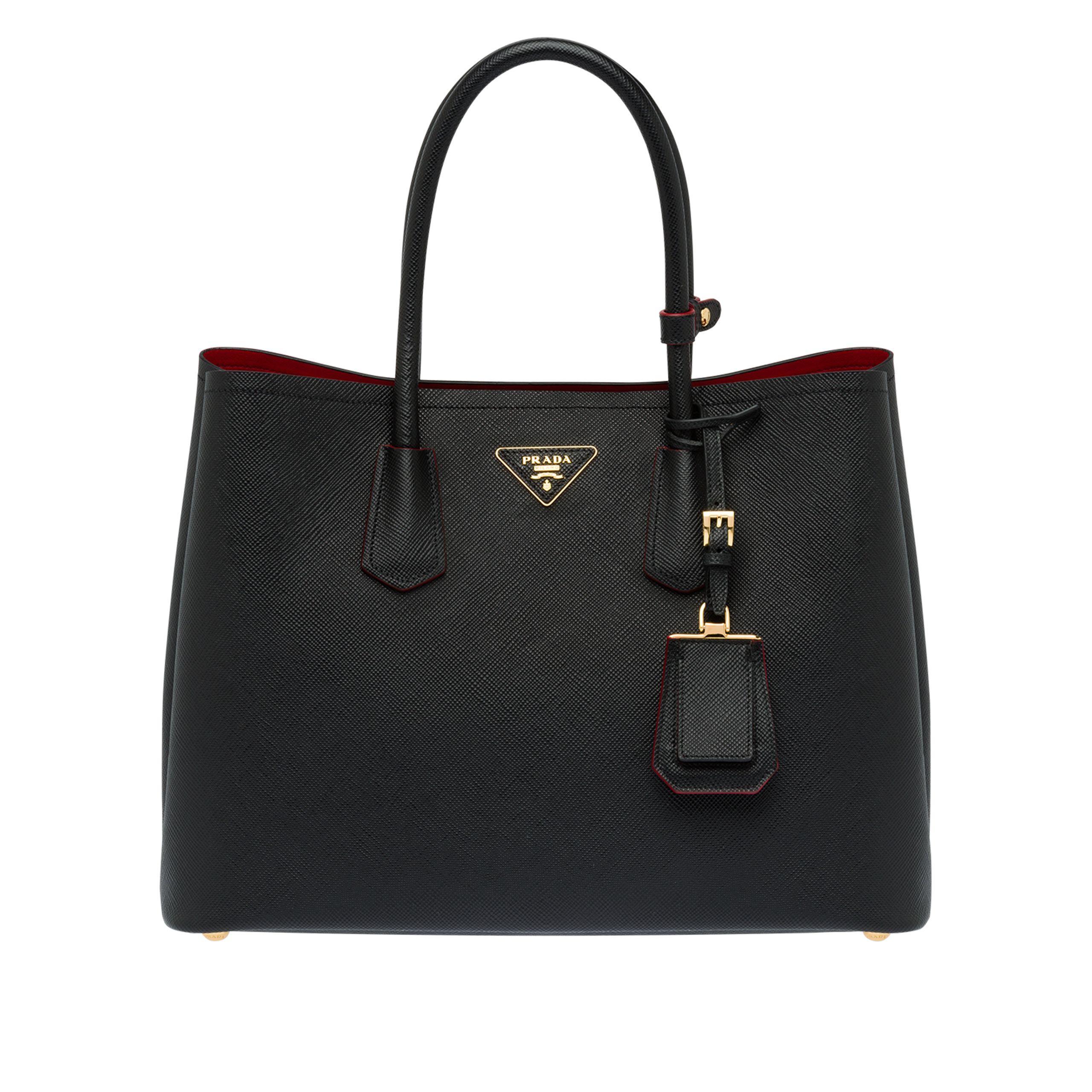08174ade6502 Prada. Women s Black Double Bag Large.  2