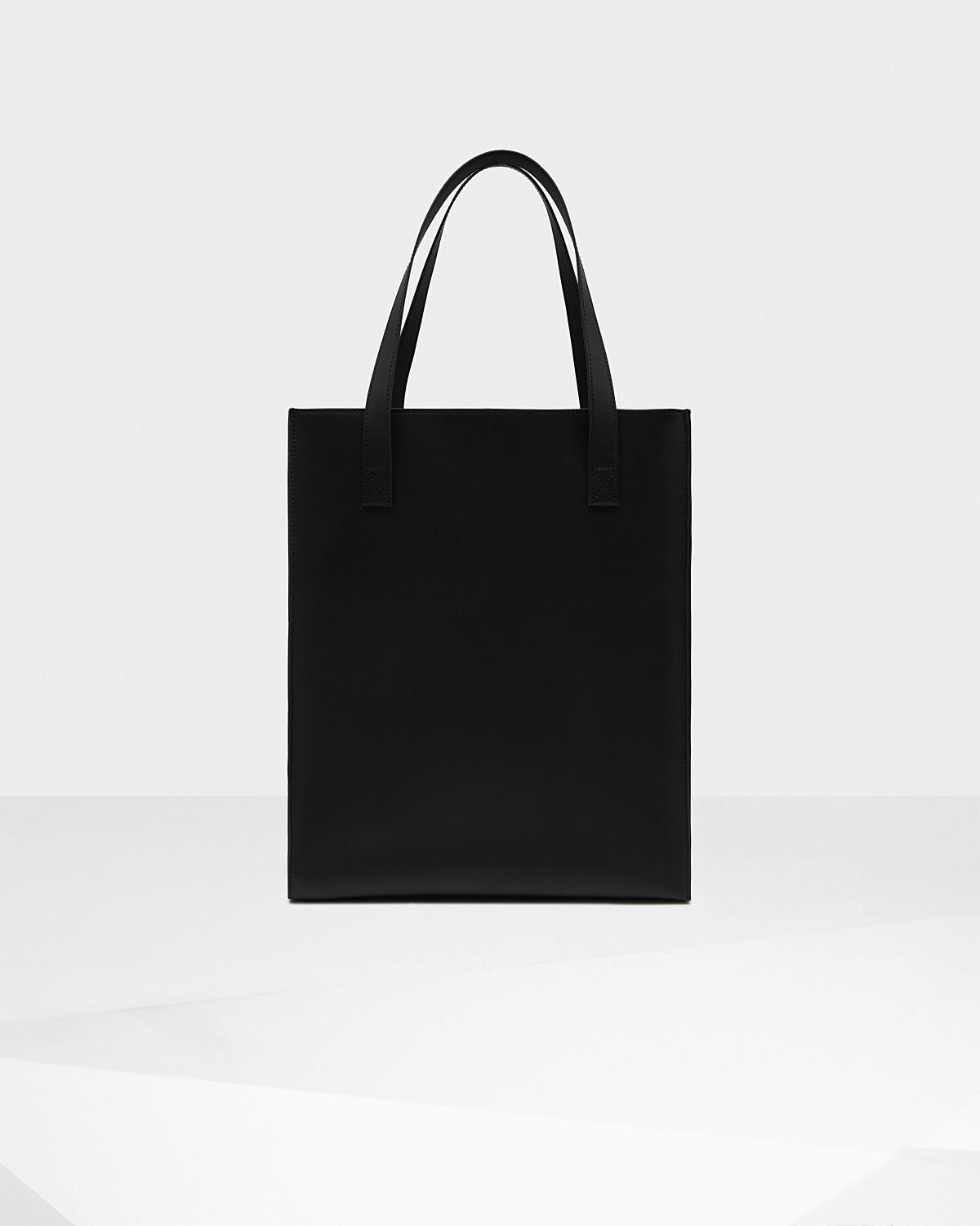 37ee29331 Lyst - HUNTER Original Rubberized Leather Tote Bag in Black