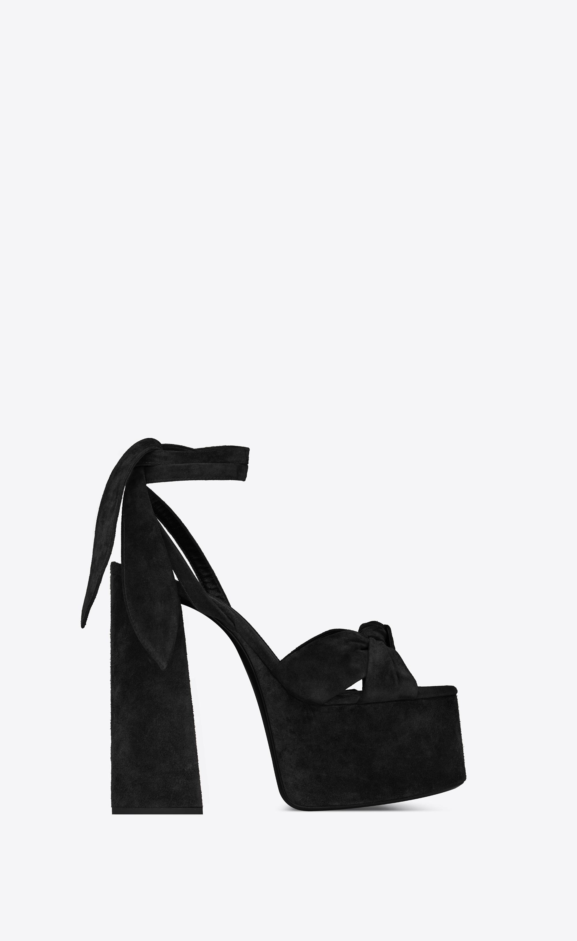 214d58292c0 Lyst - Saint Laurent Paige Platform Sandals in Black
