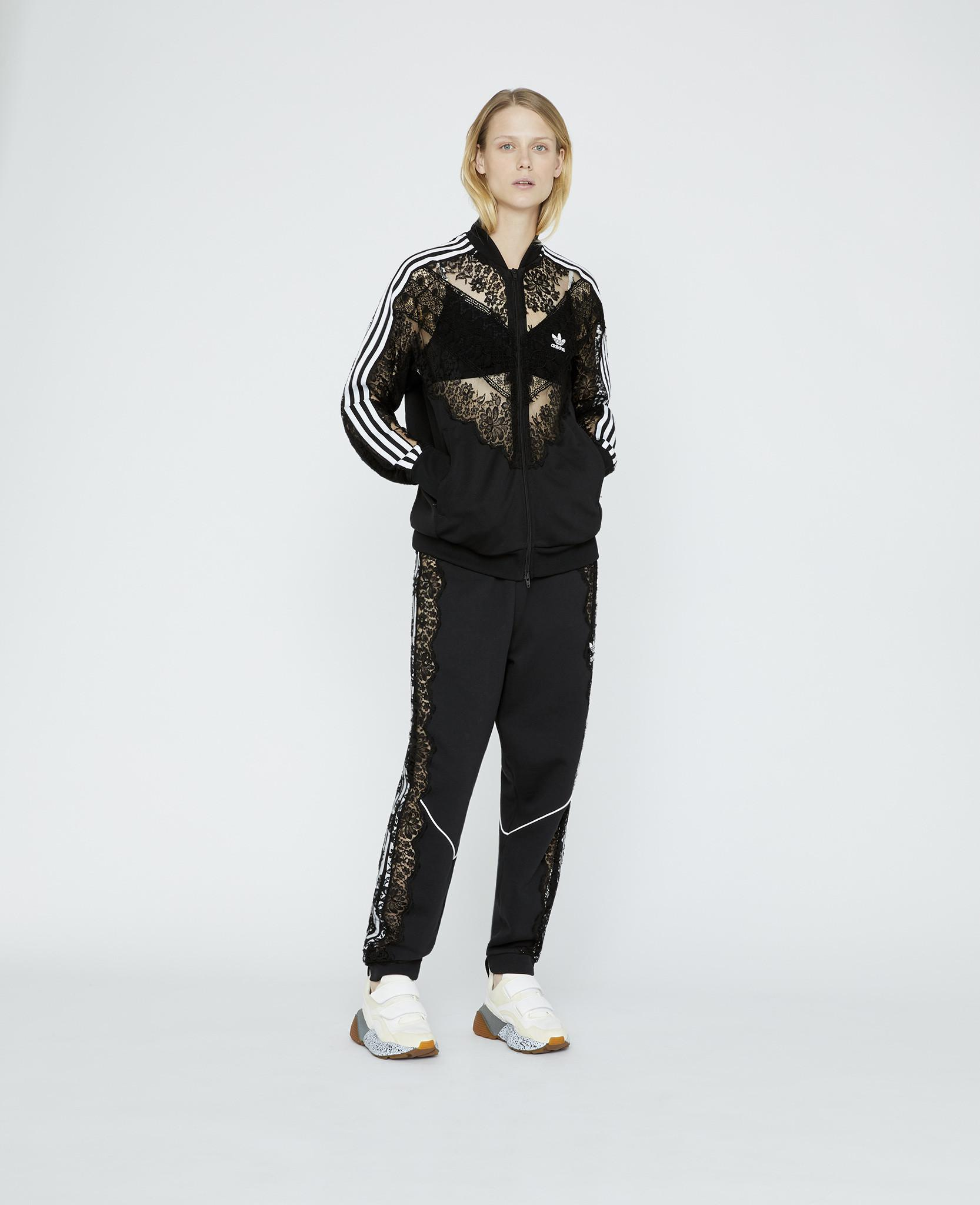 4427834a67 Lyst - Stella McCartney Adidas 3-stripe Lace Jacket in Black