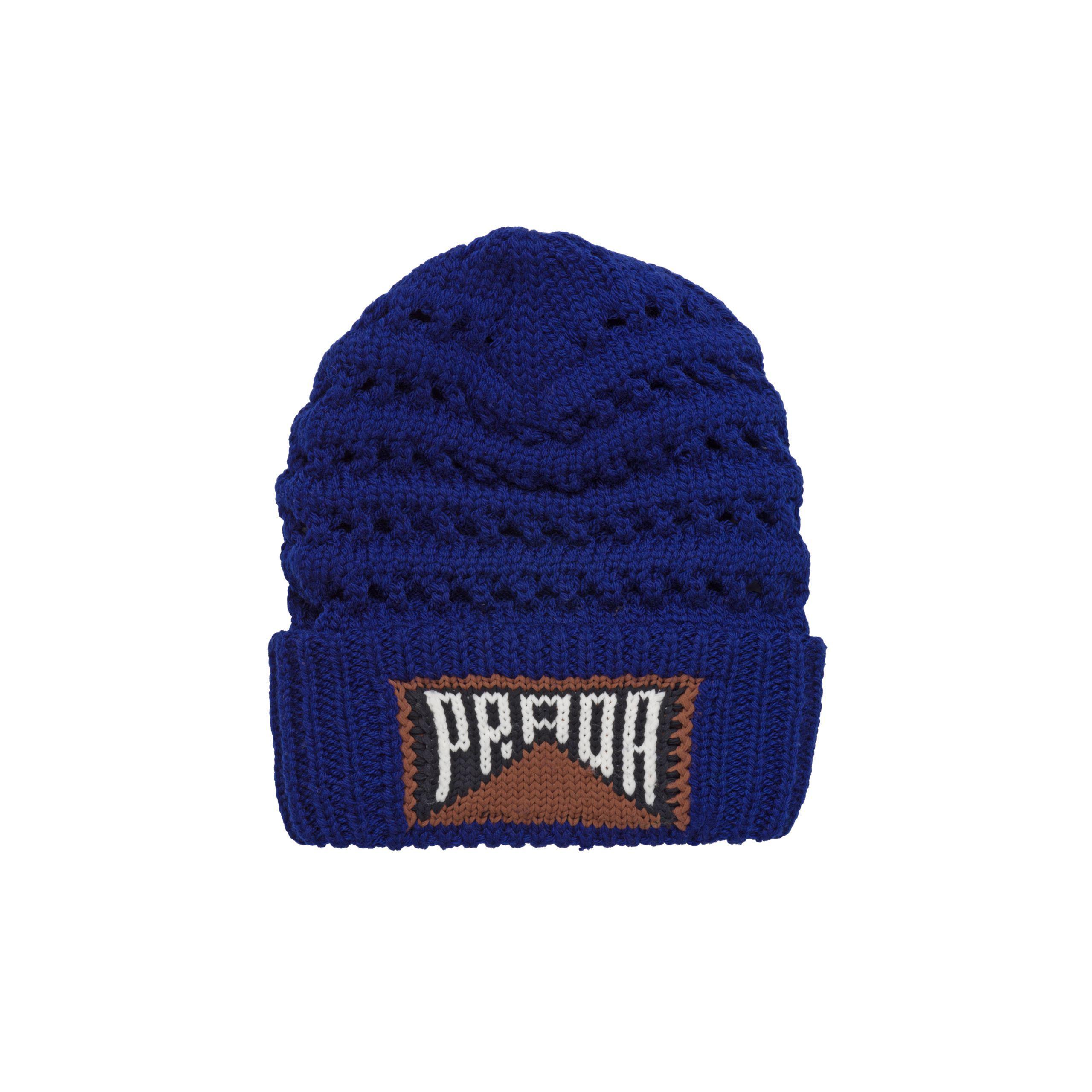 80e01f61ef4 Lyst - Prada Wool Beanie With Logo in Blue