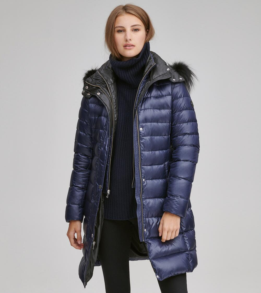 164fa1313bb Lyst - Andrew Marc Gayle Quilted Down Jacket in Blue