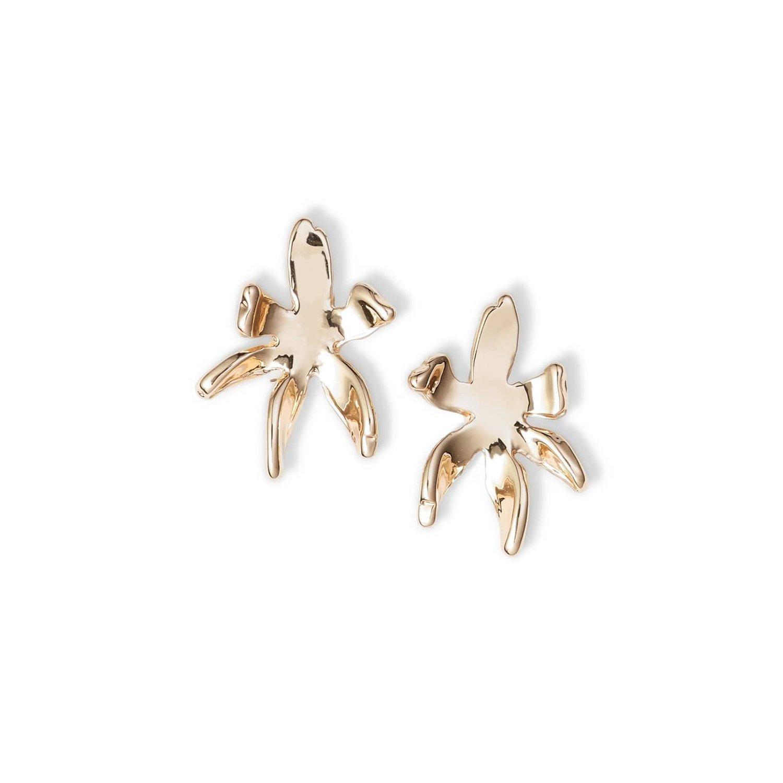 3123aae5c Lyst - Lele Sadoughi Paper Lily Stud Earring in Metallic