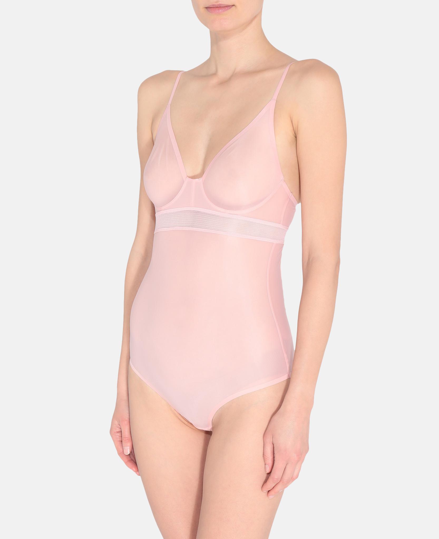 7f6457089 Lyst - Stella McCartney Grace Glowing Bodysuit in Pink
