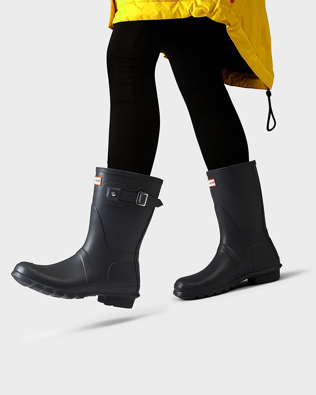 b8789bd3a4c2 Hunter - Multicolor Women s Original Short Rain Boots - Lyst. View  fullscreen