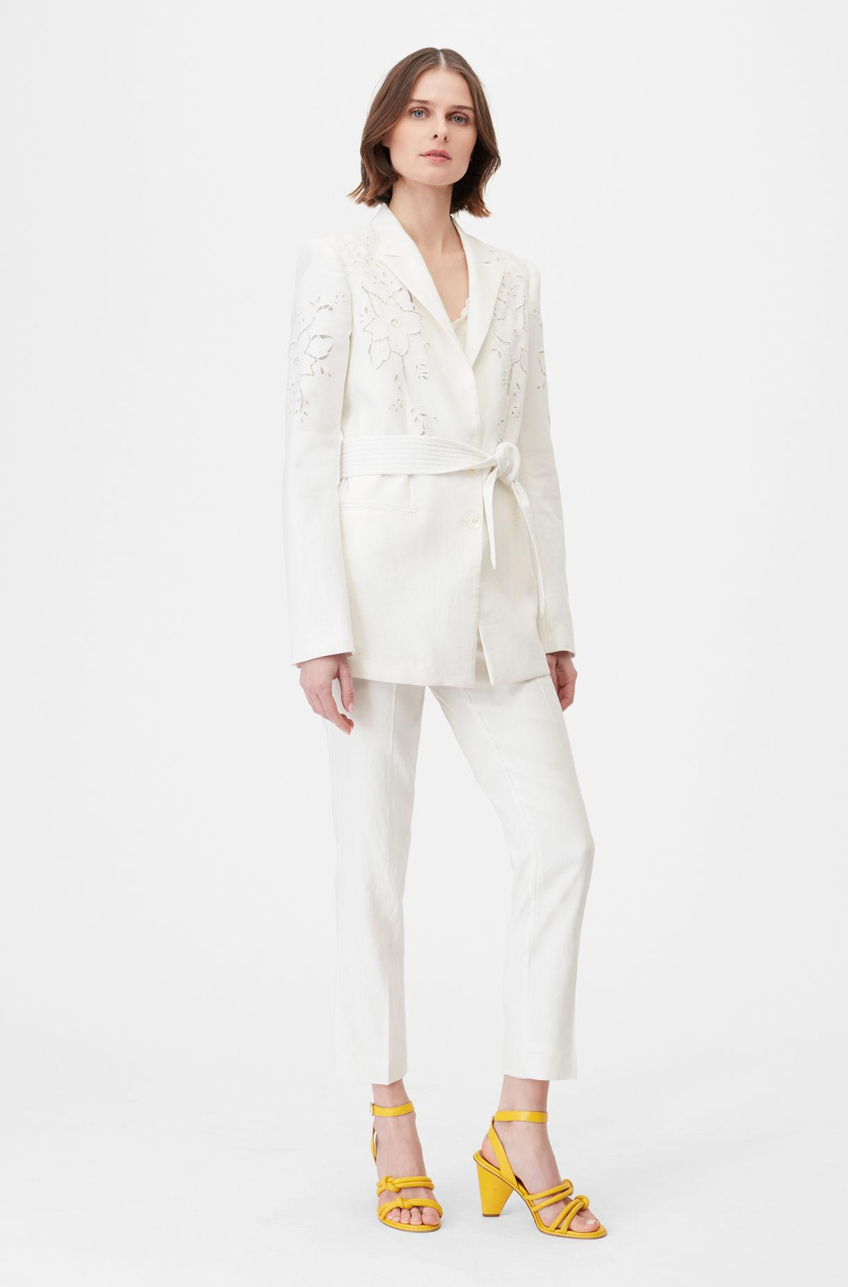 9779156343065 Rebecca Taylor - White Tailored Stretch Linen Blend Pant - Lyst. View  fullscreen