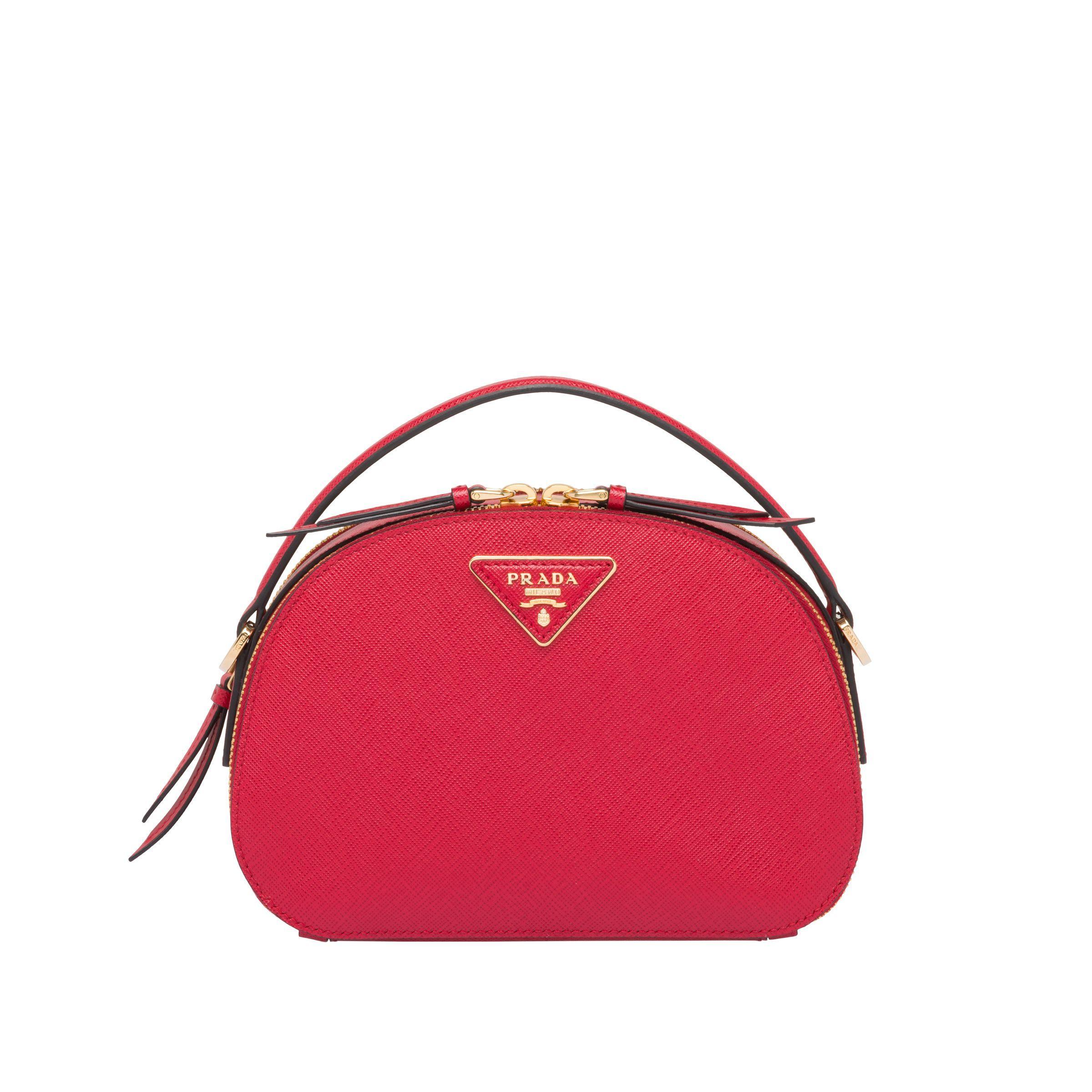 c2e5b8203c9d15 Prada - Red Odette Saffiano Leather Bag - Lyst. View fullscreen