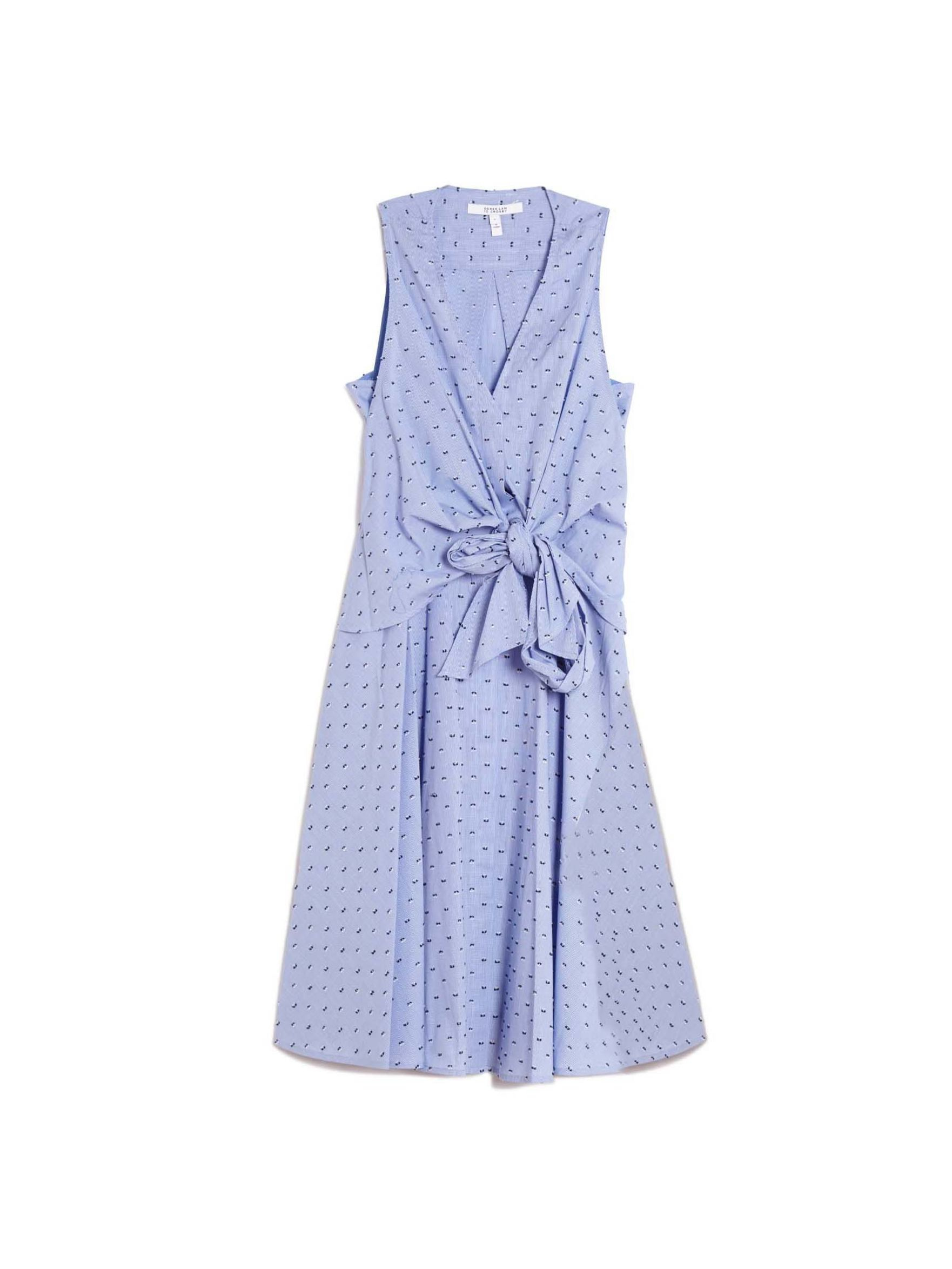 10 crosby derek lam cupped dot dress in blue lyst for Derek lam 10 crosby shirt dress