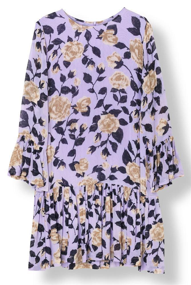 de1b2ae2 Ganni Carlton Georgette Dress Pastel Lilac in Purple - Lyst