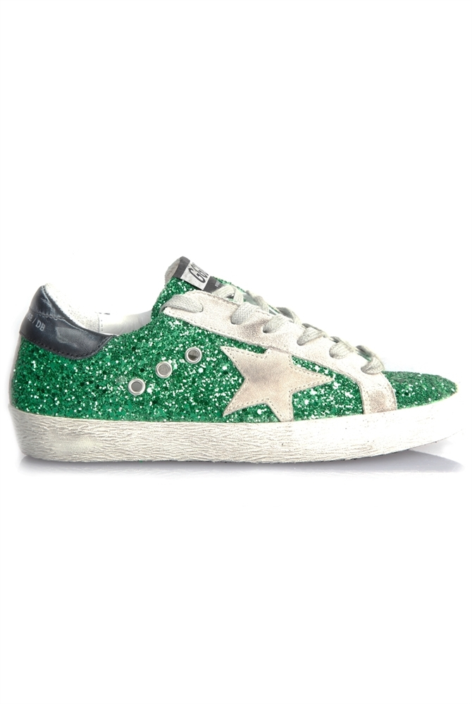 Golden Goose Deluxe Brand Superstar Sneakers Emerald Green
