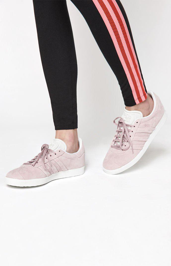 on sale 4888b 01fa5 adidas. Womens Pink Gazelle Stitch And Turn Sneakers