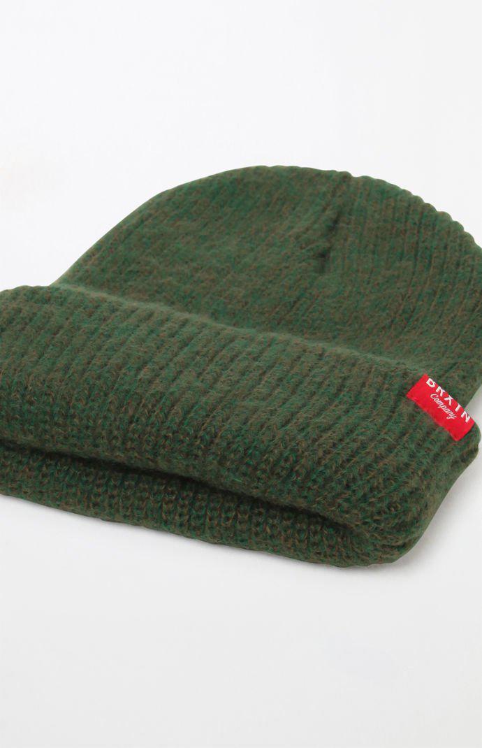 3f78cc1ca408c Lyst - Brixton Redmond Green Beanie in Green for Men