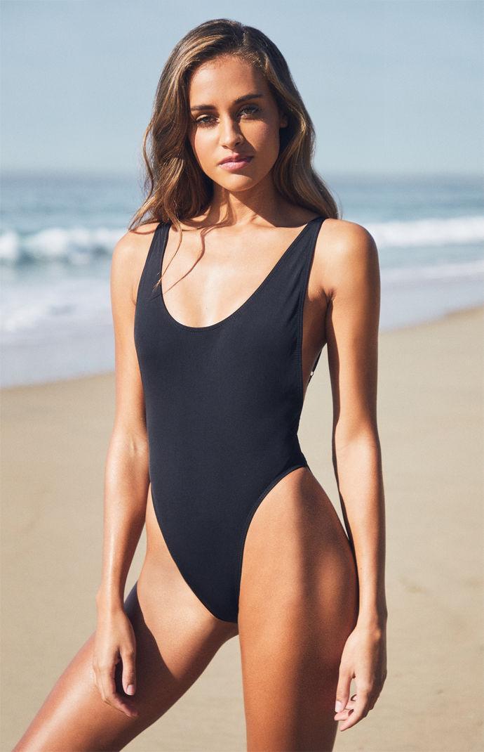 d1bb1737b3927 Lioness Bo Derek One Piece Swimsuit in Black - Lyst