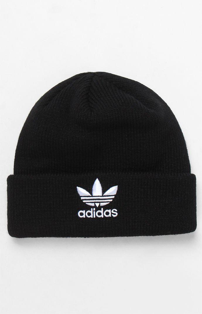 660e05d1c188a Adidas - Trefoil Black Knit Beanie for Men - Lyst. View fullscreen
