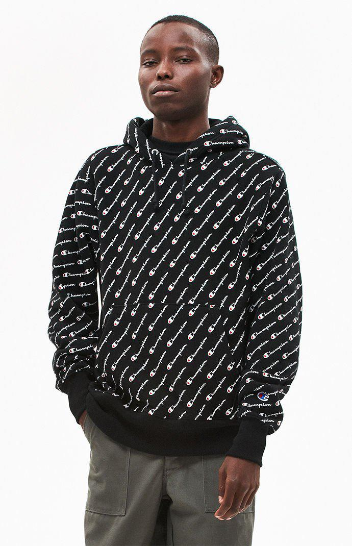 Lyst - Champion Reverse Weave All Over Print Pullover Hoodie in ... e5d149e1627d