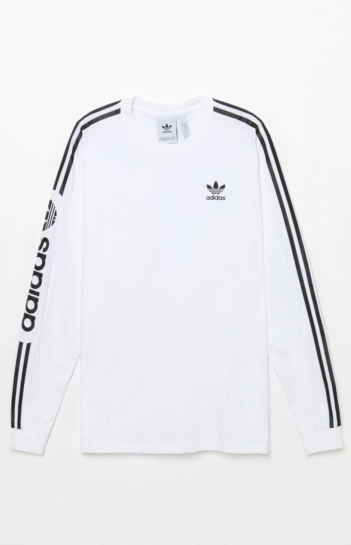 15e4d6c5bdfc adidas Graphic Long Sleeve T-shirt in White for Men - Lyst