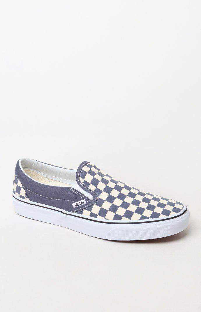 fe120de6aaeaff Lyst - Vans Color Theory Checker Slip-on Shoes in Blue for Men