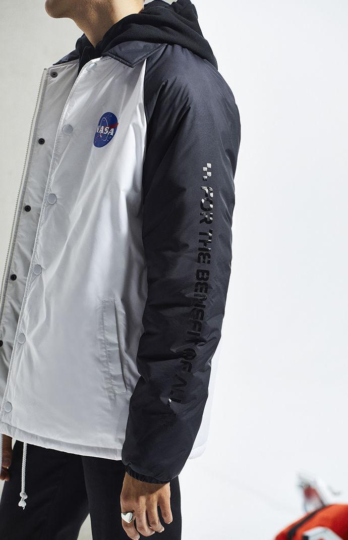 Lyst Vans X Nasa Space Torrey Padded Jacket In White For Men