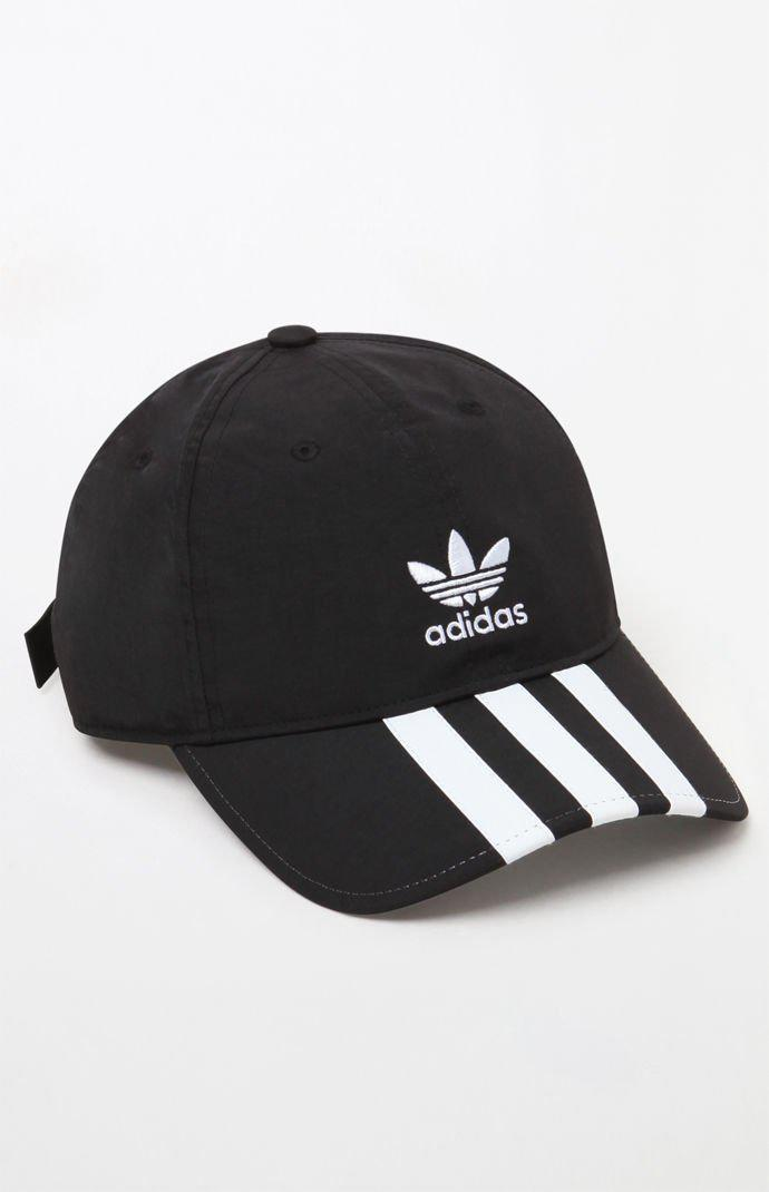 b4e7c660f59 Adidas - Black Relaxed Applique Strapback Dad Hat for Men - Lyst. View  fullscreen