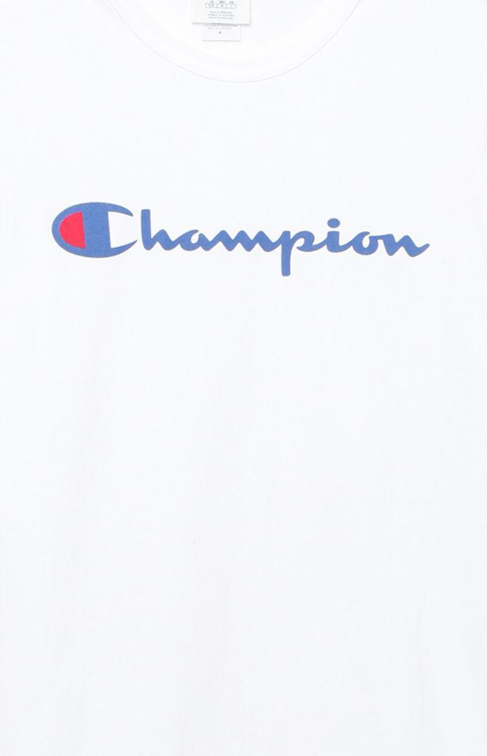 18a06bd3986 Champion - White Patriotic Script T-shirt for Men - Lyst. View fullscreen
