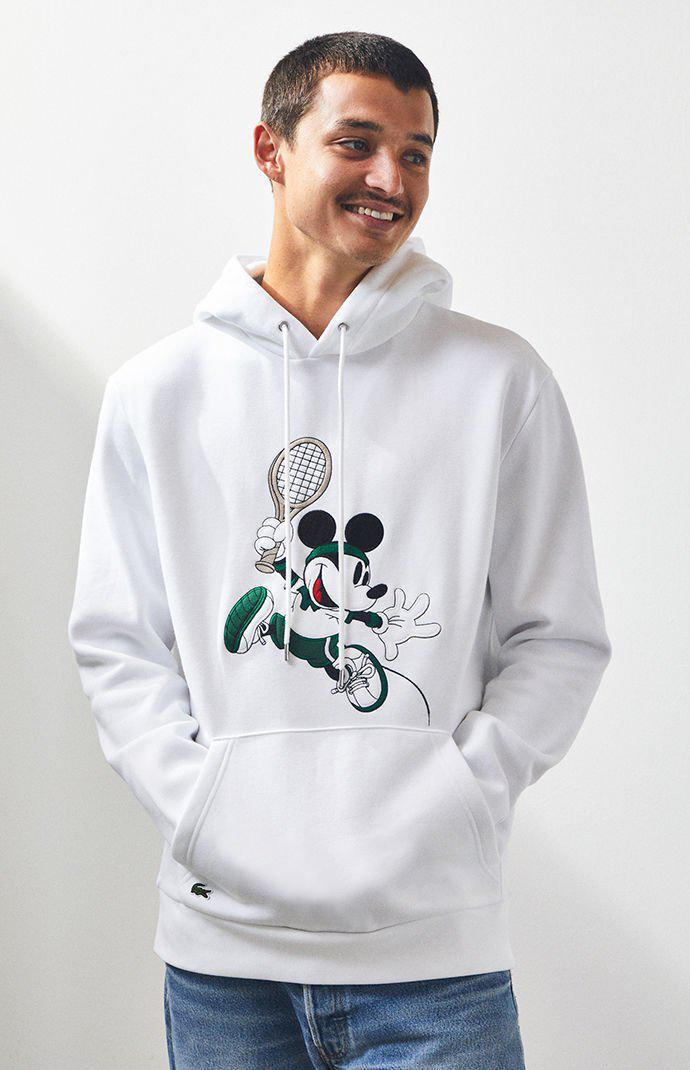 b55278fd Lacoste Mickey Mouse Pullover Hoodie in White for Men - Lyst