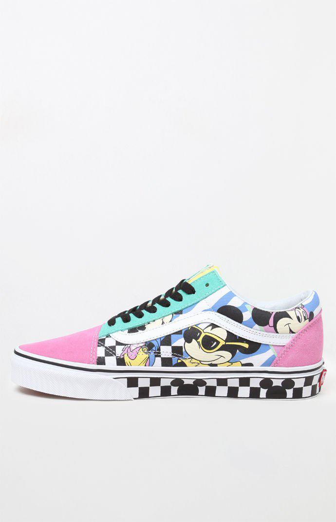 Skool In Minnie Lyst Disney X Mickeyamp; Shoes Vans Colorblock Old 8Xn0PkZNwO