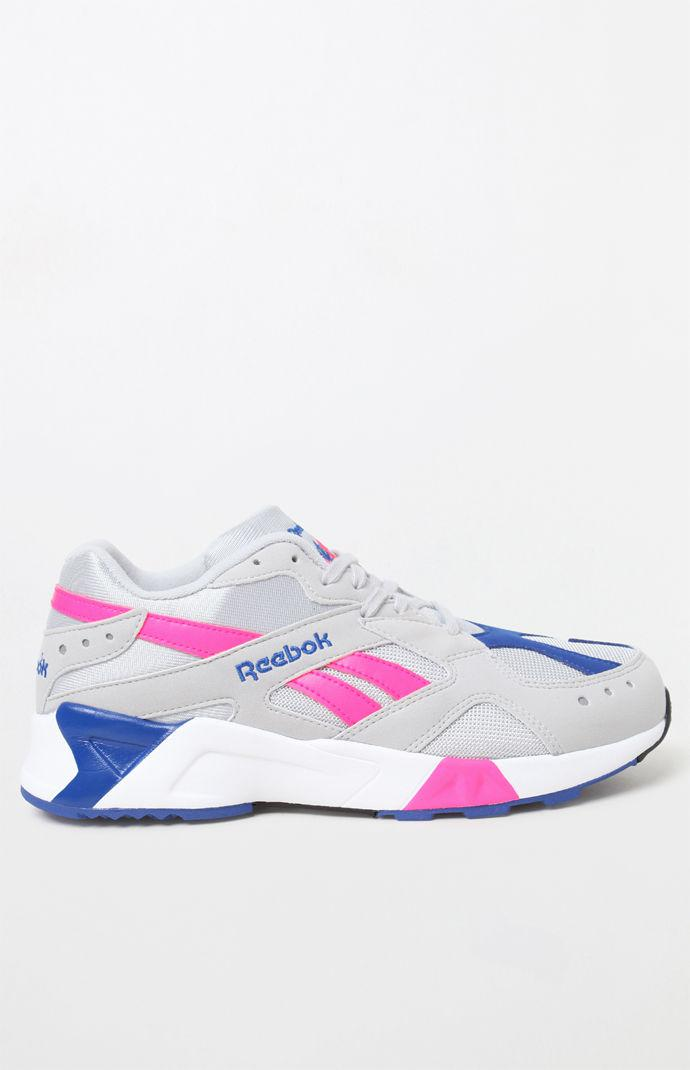 Lyst - Reebok Aztrek Grey   Pink Shoes in Pink for Men - Save 21% c1a517eed