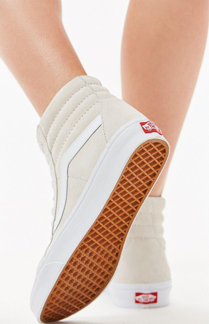 811145cb8f78 Vans - Women s White Sk8-hi Reissue Sneakers - Lyst. View fullscreen