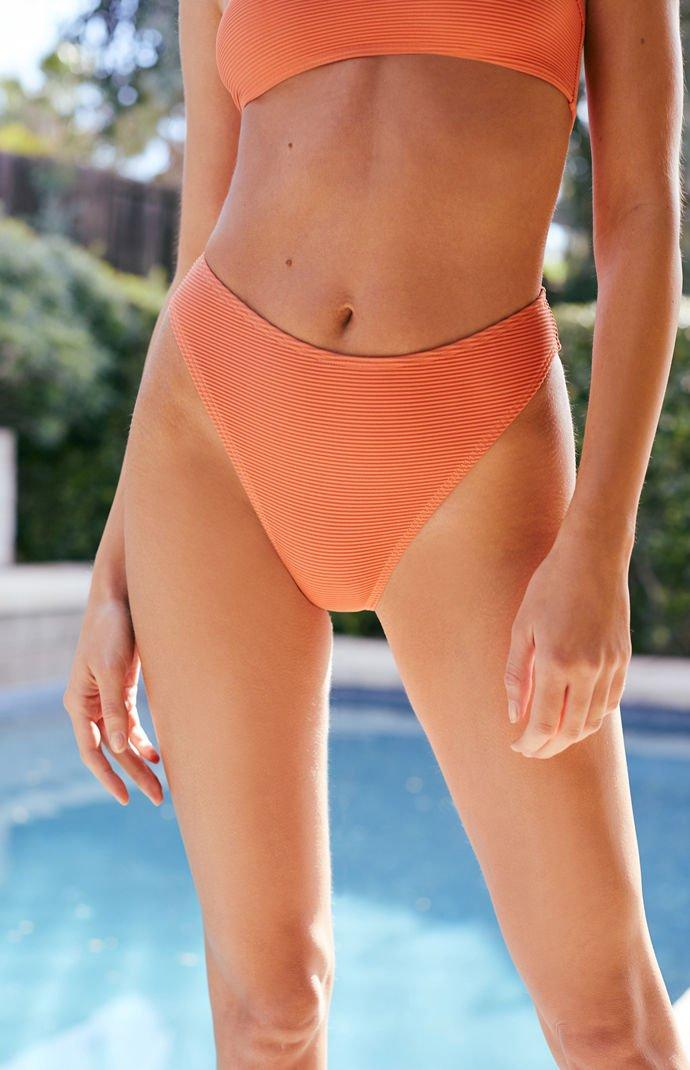 Lyst - MINKPINK Sunset High Waisted Bikini Bottom in Orange 18a042395