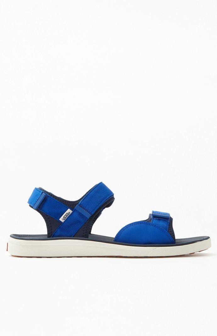 21c6fb54db4b Vans - Blue Ultrarange Tri-lock Sandals for Men - Lyst. View fullscreen