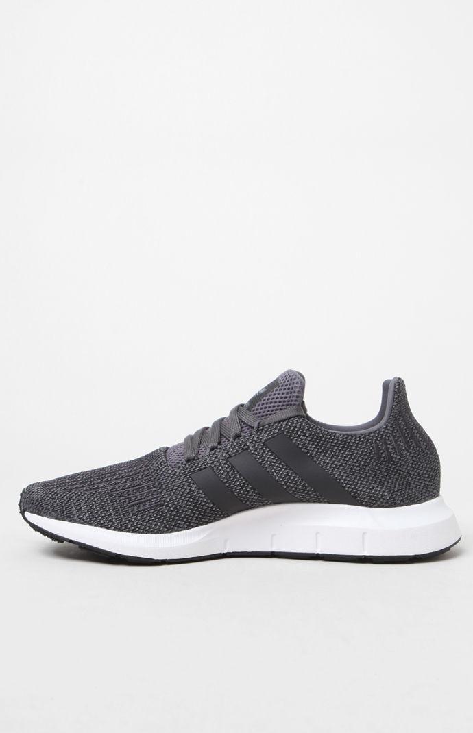 a84c74cc7 Adidas - Gray Swift Run Grey   Black Shoes for Men - Lyst. View fullscreen