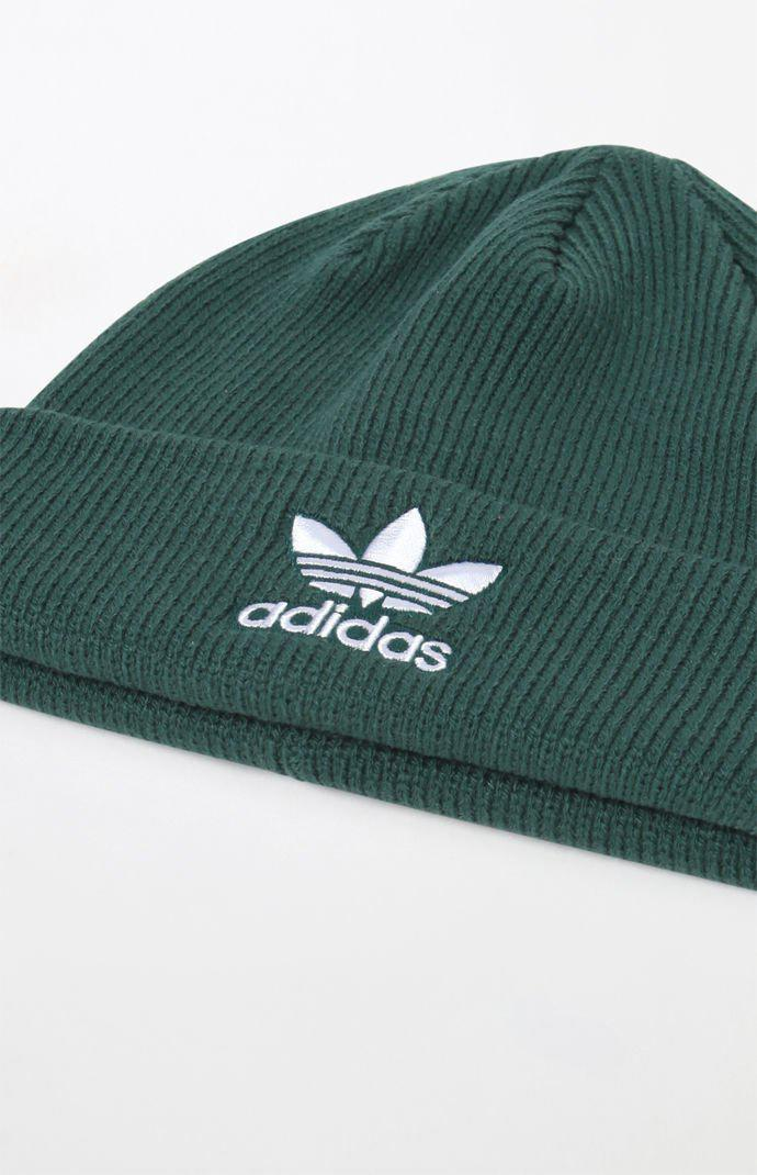 c10299d125b Lyst - adidas Trefoil Green Beanie in Green for Men