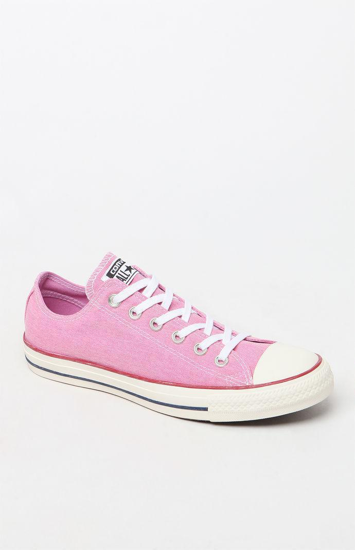 93482dd26ae9 Lyst - Converse Women s Pink Vintage All Star Low Top Sneakers in Pink