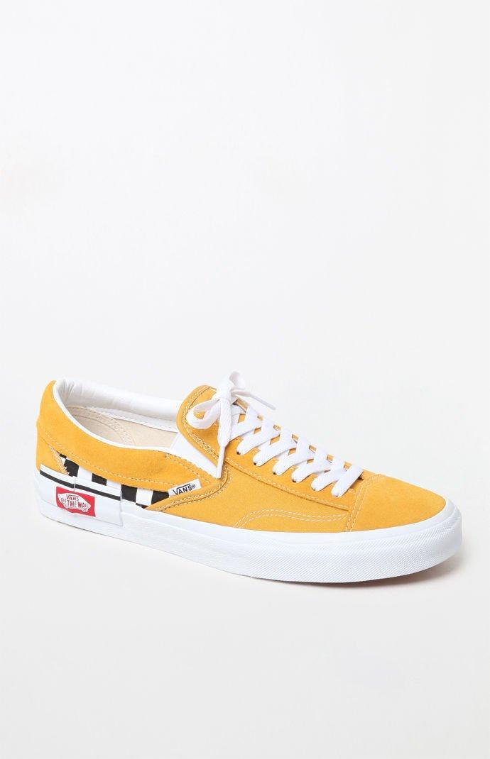 4992bbd787 Vans - Yellow Checkerboard Slip-on Cap Shoes for Men - Lyst. View fullscreen