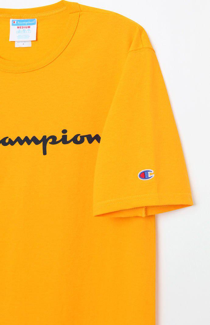 ddae8bc0427 Champion - Metallic Patriotic Script T-shirt for Men - Lyst. View fullscreen