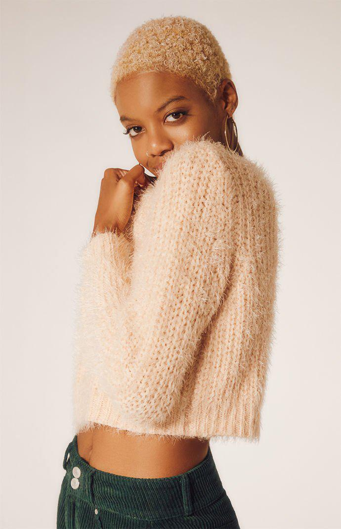 01cf3904f475af Lyst - Kendall + Kylie Cozy Cropped Pullover Sweater in Pink