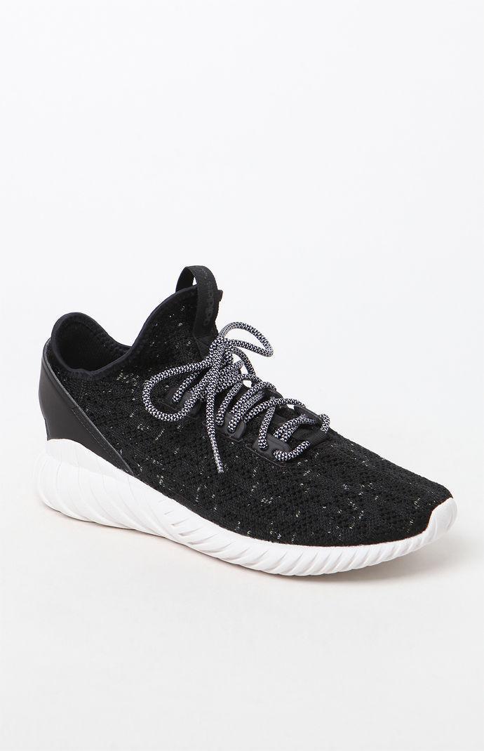 36496c30c990 Lyst - adidas Tubular Doom Sock Primeknit Black   White Shoes in ...