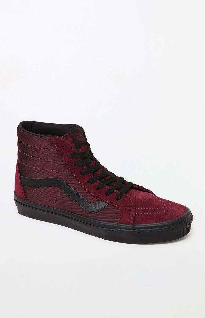 3d4f6fc393b803 Vans. Men s Burgundy Sk8-hi Metallic Twill Shoes ...