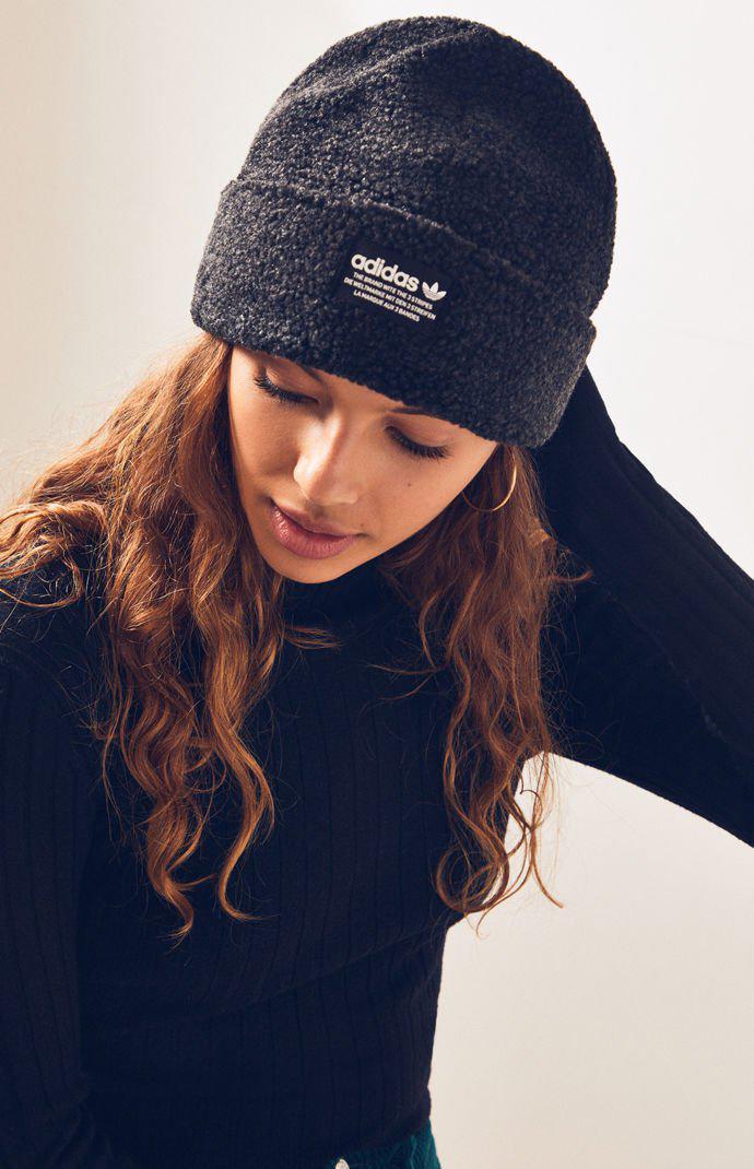Lyst - adidas Black   White Nova Beanie in Black 33a902c888b