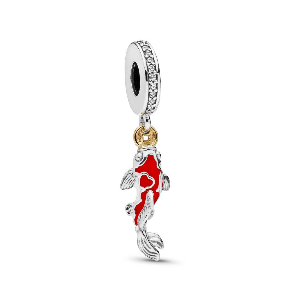 3f2c5b403 PANDORA. Women's Metallic Good Fortune Carp Charm | Clear Cubic Zirconia ...