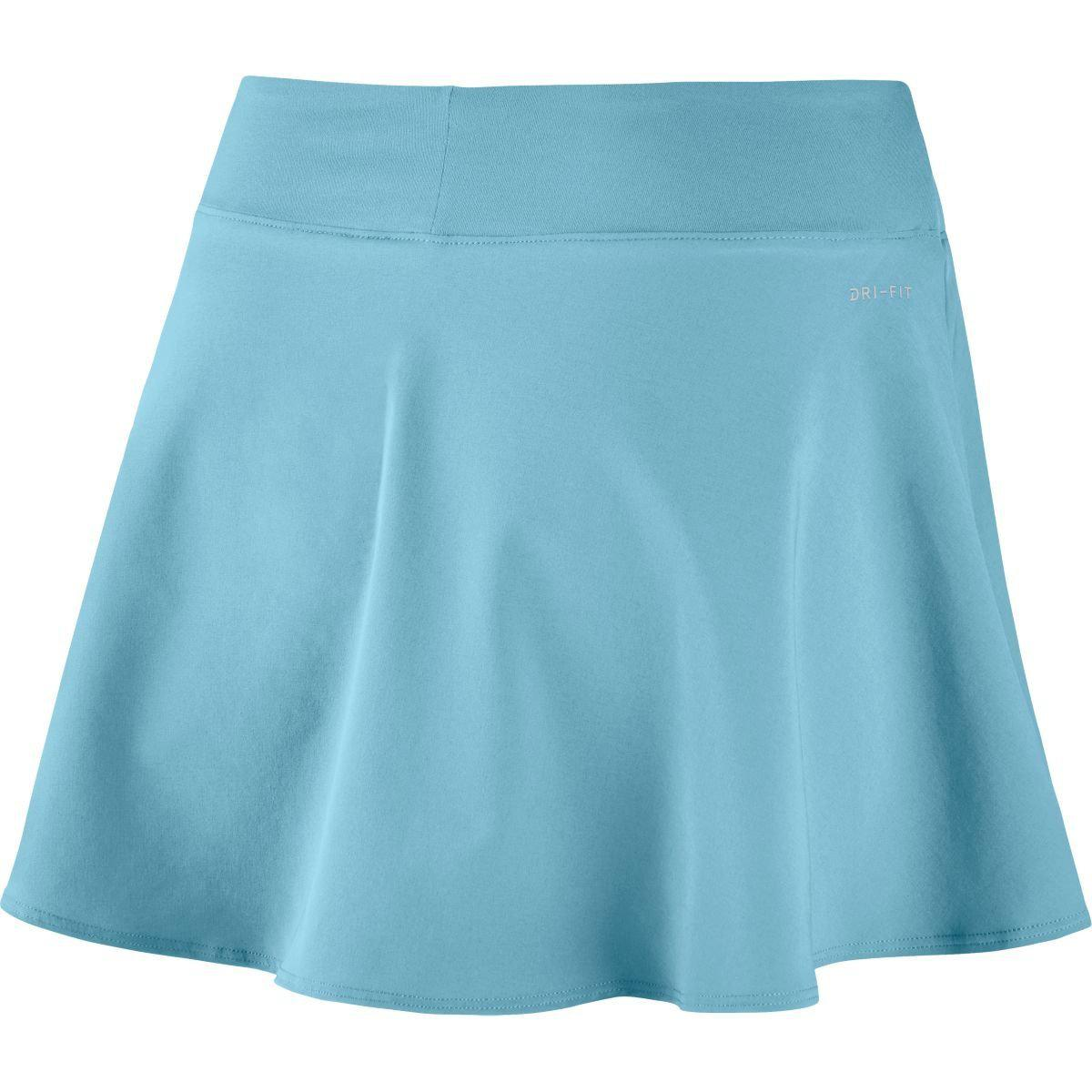 6d3cc0f30526 Lyst - Nike Court Flex Pure Tennis Skirt in Blue