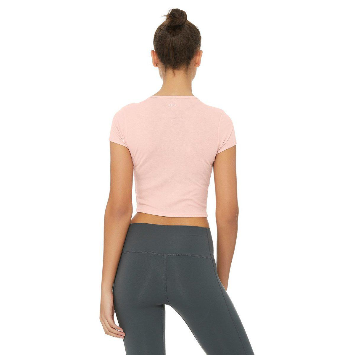 bb804e0be30 Lyst - Alo Yoga Baby Tee in Pink
