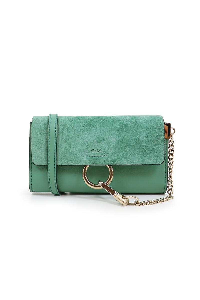 chlo faye mini bag happy green in green lyst. Black Bedroom Furniture Sets. Home Design Ideas