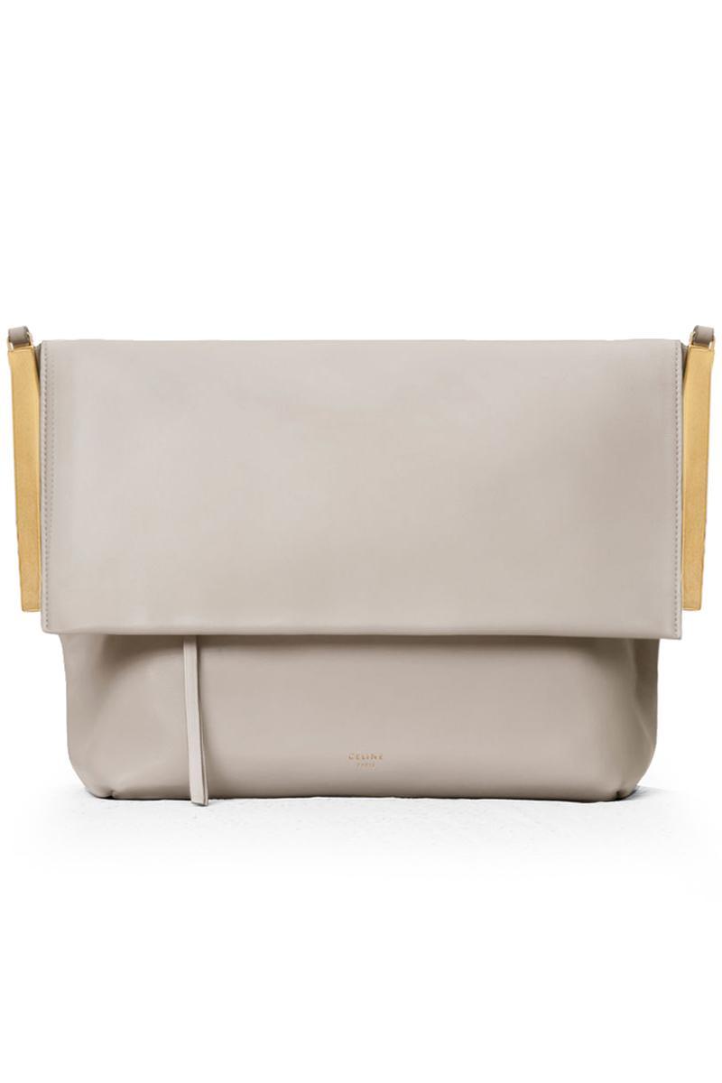 011e1a2d37 Céline Clasp Flap Bag Clay - Lyst