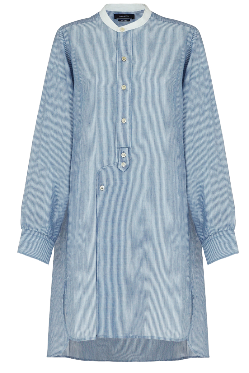 Lyst Isabel Marant Ranger Collarless Striped Shirt Dress