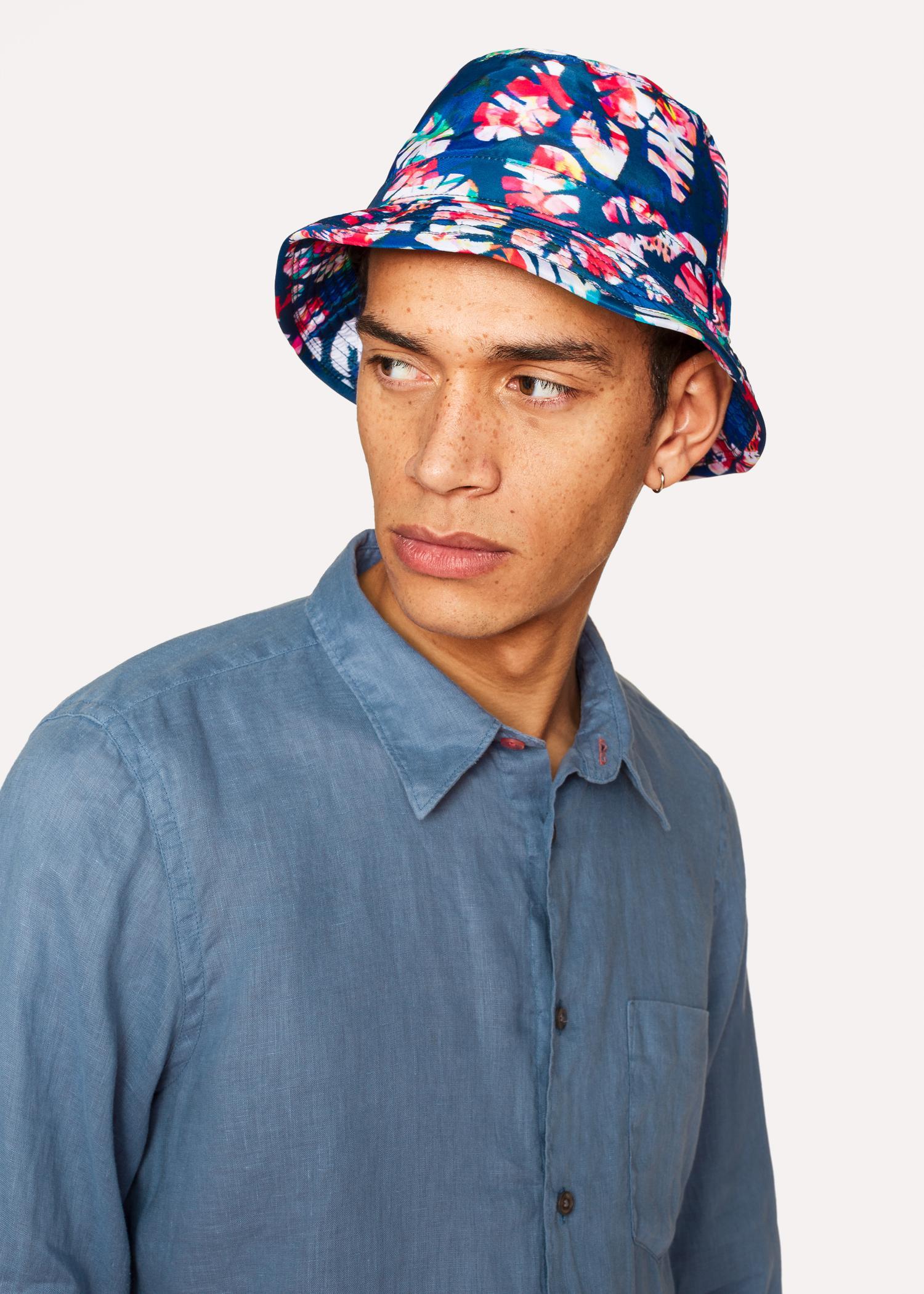 Paul Smith - Blue  Palm Leaf  Bucket Hat for Men - Lyst. View fullscreen aa71eda5b215