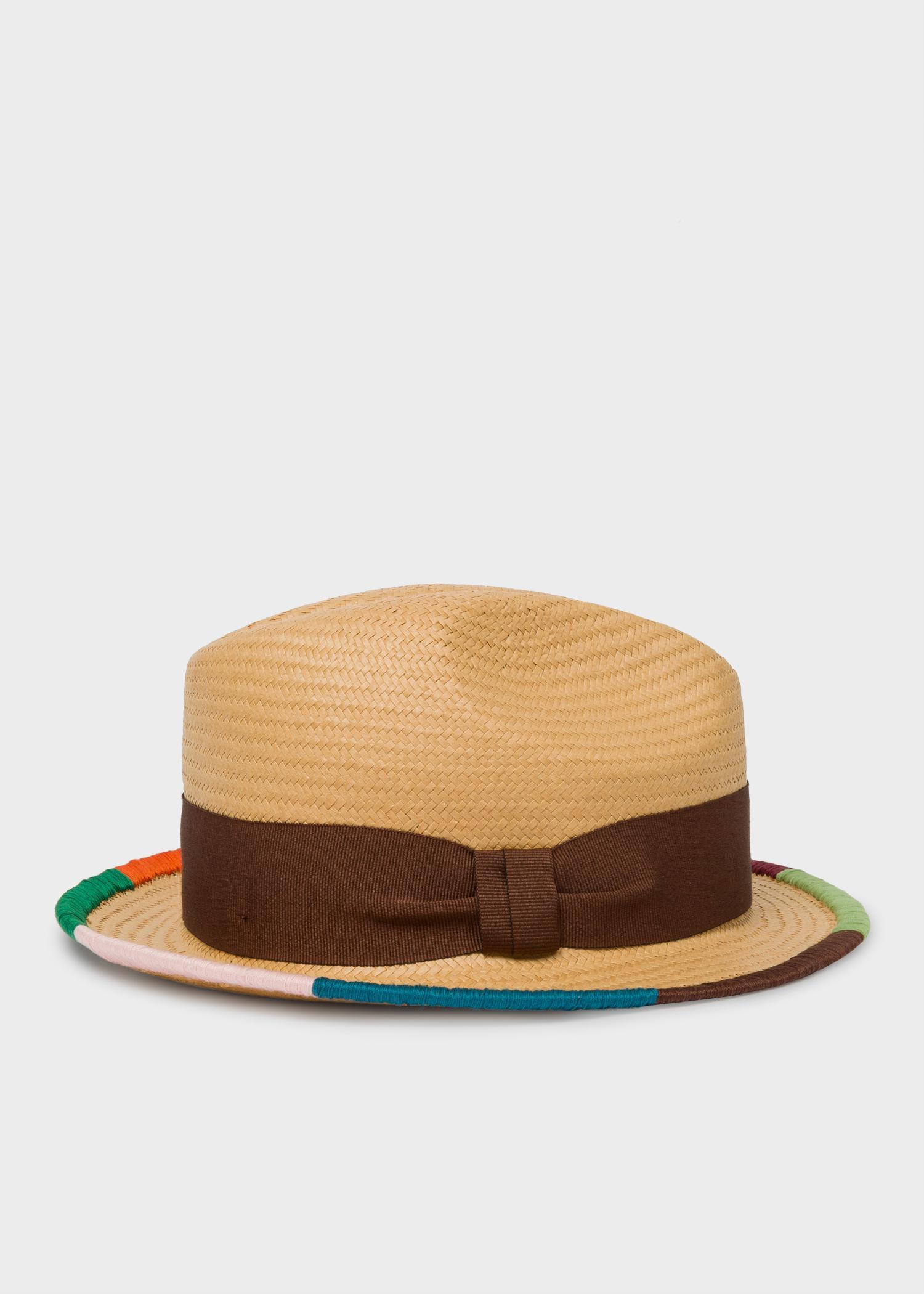 9da1dc7a157416 Paul Smith 'Artist Stripe' Border Plaited Hat for Men - Lyst