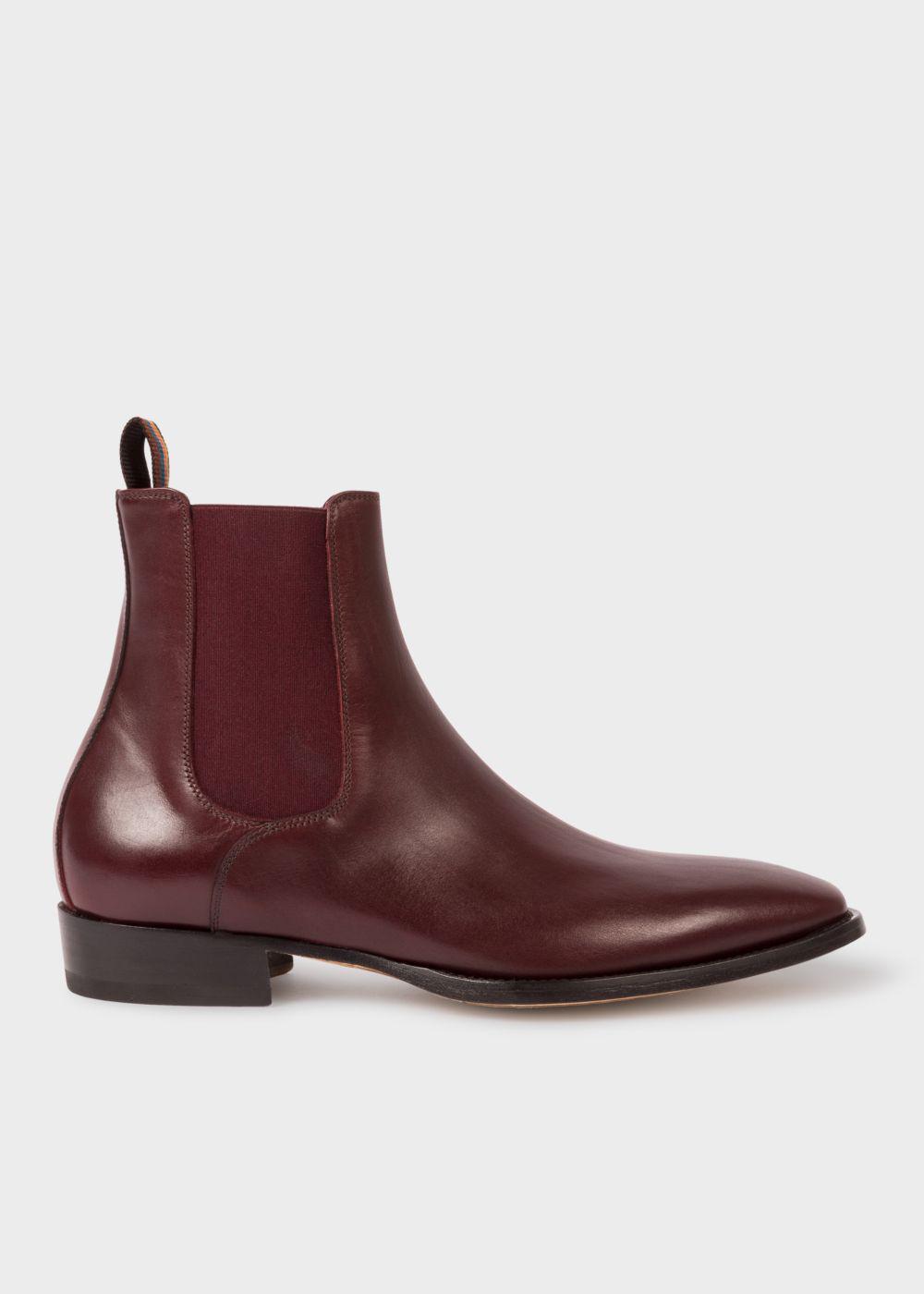 fe1976ca0f6 Lyst - Paul Smith Men s Bordeaux Leather  bobby  Chelsea Boots for Men